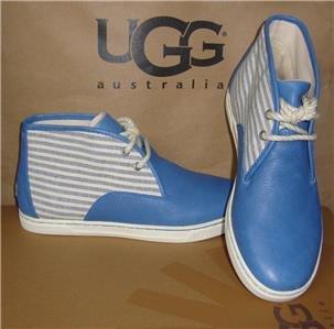 UGG Australia Women's PAYGE STRIPE Blue Hi top Sneakers Size US 7 NEW #1006760