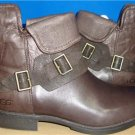 UGG Australia Women's CYBELE Lodge Brown Leather Boots Size US 9.5  NIB #1007673