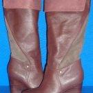 UGG Australia RAVENNA Stout Knee High Wedge Leather Boots Size US 9.5 NEW #3200