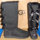 UGG Australia Black Triple Bailey Bow Tall Boots Size US 6, EU 37 NEW #1007308