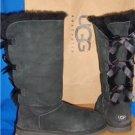 UGG Australia Black Triple Bailey Bow Tall Boots Size US 8, EU 39 #1007308