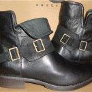 UGG Australia CYBELE Black Ankle Leather Boots Size US 7.5, EU 38.5 NIB #1007673