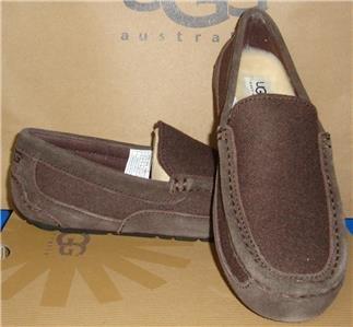 UGG Australia Men's ALDER Wool Stout Moccasins Slip on Shoes Size US 8 NIB