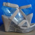 UGG Australia ARIAH Fawn Ankle Strap Wedge Sandals Size US 8,EU 39 NIB #1002511