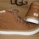 UGG Australia GRADIE Chestnut Leather Ankle Boot Sneakers Size US 7 NIB #1011580