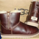 UGG Australia Classic Mini Double Zip Leather Boots Size US 8,EU 39 #1008580