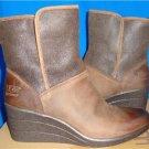 UGG Australia RENATTA Stout Waterproof Leather Ankle Boots Size 8 NIB #1008021