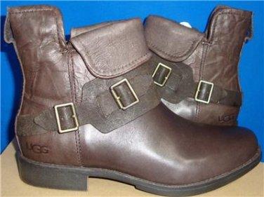 UGG Australia CYBELE Lodge Brown Leather Boots Size US 8 OR 8.5 NIB #1007673