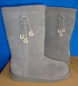UGG Australia Larynn Gray Grey Suede Boots Size Kids 6 NEW # 1005396K