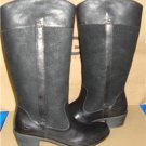 UGG Australia CASSIS Black Tall Leather Riding Boots Size US 8,EU 39 NIB 1008719