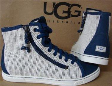 UGG Australia BLANEY CROCHET Navy Hi top Sneakers Size US 7, EU 38 NEW #1007568