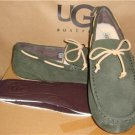 UGG Men's CHESTER Forest Night Green Suede Twinsole Moccasins Size 7 NIB 1005350