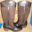 UGG Australia CASSIS Lodge Brown Tall Leather Boots Size US 9, EU 40 NIB 1008719