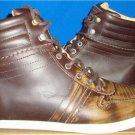 UGG  EMPIRE Men's Chestnut Leather Sneakers Size US 8 EM-PIRE NIB #1000642
