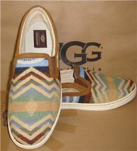 UGG Australia Chestnut FIERCE PENDLETON Slip On Shoes Sz 8.5 NIB Limited Edition