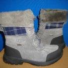 UGG BUTTE Grey Metal Waterproof Boots Size 4Y fit Women Size US 6 NIB 1001937