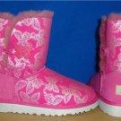 UGG Australia BAILEY BUTTON BUTTERFLY Raspberry Sorbet Boots Size 3 #1002195 K