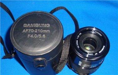 SAMSUNG AF 70-210mm 1:4.0-5.6 Lens  with Hard Case RARE