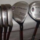 U.S Kids Golf USKG UL-24 #3 & #5 Fairway Driver Iron 8-9-P  Orange RH. 5 clubs