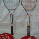 2 WILSON T3000 VINTAGE STEEL TENNIS RACQUET WITH COVER