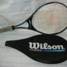 "Wilson Cobra PWS Tennis Racquet 4-1/2"" & Case"