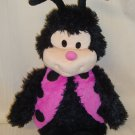 Happy Nappers  Black & Pink Ladybug  SOUND   Plush Stuffed Perfect Pillow  Approx 21""