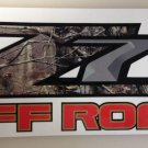 Z71 4X4 Custom Camo Printed Decal Graphic Set of 2