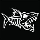 2 Pack of Custom Bone Fish Cut Vinyl Decals / Stickers