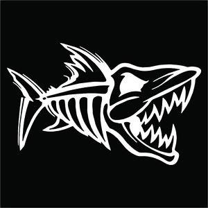 2 Pack of Custom Bone Fish Cut Vinyl Decals / Stickers