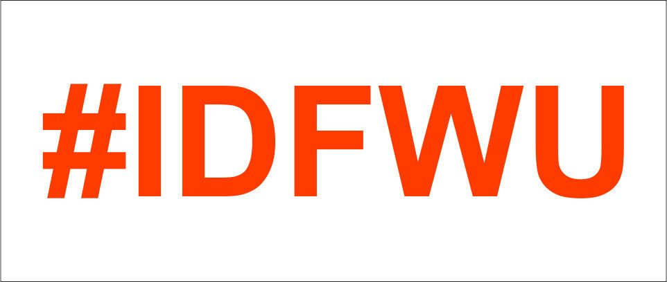 Custom 2(TWO) Pack of #IDFWU Vinyl Decal / Sticker