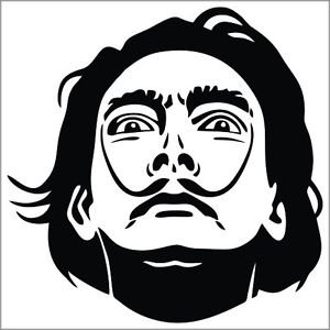 2 Pack of Custom Salvador Dali Vinyl Decals / Stickers