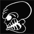 2 Pack of Custom Skull Grin Vinyl Decals / Stickers