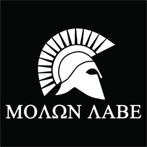 Custom 2(TWO) Pack of Molon Labe Vinyl Decals / Stickers