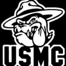 "2 Pack of Custom ""USMC Bulldog"" Vinyl Decals / Stickers"