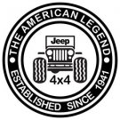 "2 Pack of Custom Jeep ""The American Legend"" Jeep Vinyl Decals / Stickers"