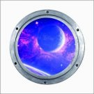 Custom 4 inch Porthole Space Theme Vinyl Decal / Sticker
