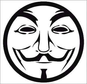2 Pack of Custom Guy Fawkes Round Vinyl Decals / Stickers