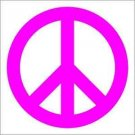 "2 Pack of Custom ""Peace Symbol"" Vinyl Decals / Stickers"