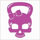 2 Pack of Custom Kettlebell Bow Skull Vinyl Decals / Stickers