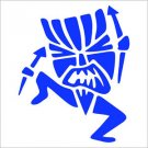 2(TWO) Pack of CUSTOM Tiki Man Vinyl Decals / Stickers
