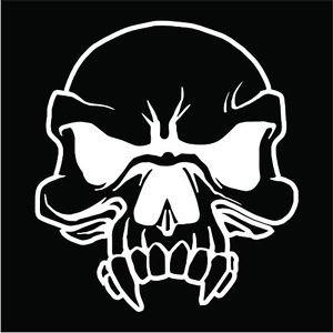 Vampire Skull Vinyl Decals / Stickers 2(TWO) Pack