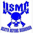 USMC Death Before Dishonor Vinyl Decals / Stickers 2(TWO) Pack
