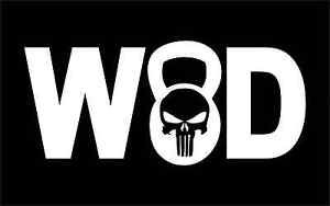 WOD Skull XFit Vinyl Decals / Stickers 2(TWO) Pack