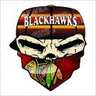 Chicago Blackhawks Bandanna Vinyl Decal / Sticker 2(TWO) Pack