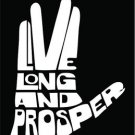 Live Long and Prosper Star Trek Spock Vinyl Decals / Stickers 2(TWO) Pack