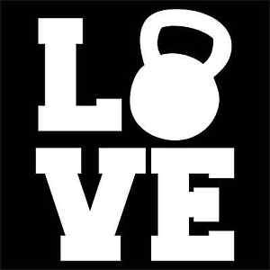 LOVE Kettlebell XFit Vinyl Decals / Stickers 2(TWO) Pack