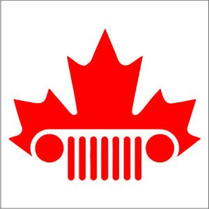 Maple Jeep Vinyl Decals / Stickers 2(TWO) Pack