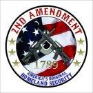 2nd Amendment AR 15 Printed Vinyl Decal / Sticker