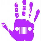 Jeep Hand Waive Vinyl Decals / Stickers 2(TWO) Pack
