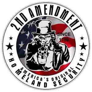 2nd Amendment Uncle Sam Homeland Security Vinyl Decal / Sticker